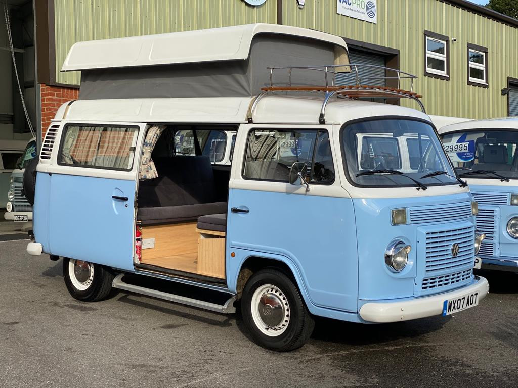 A VW T2 Brazilian Campervan called Bellathecamper and Bella Open for hire in Surbiton, Surrey