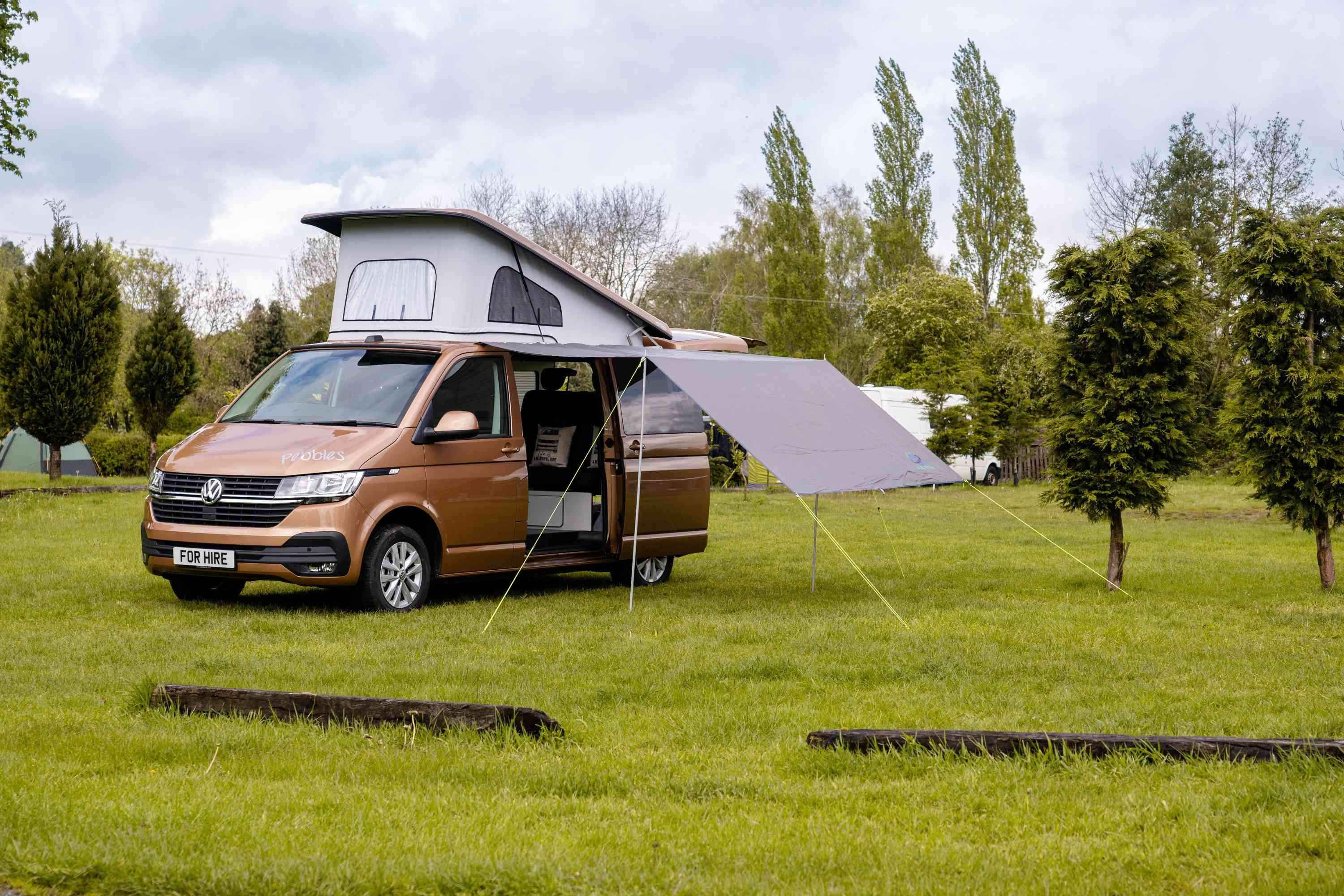 A VW T6 Campervan called Pebbles and for hire in Middlewich, Cheshire