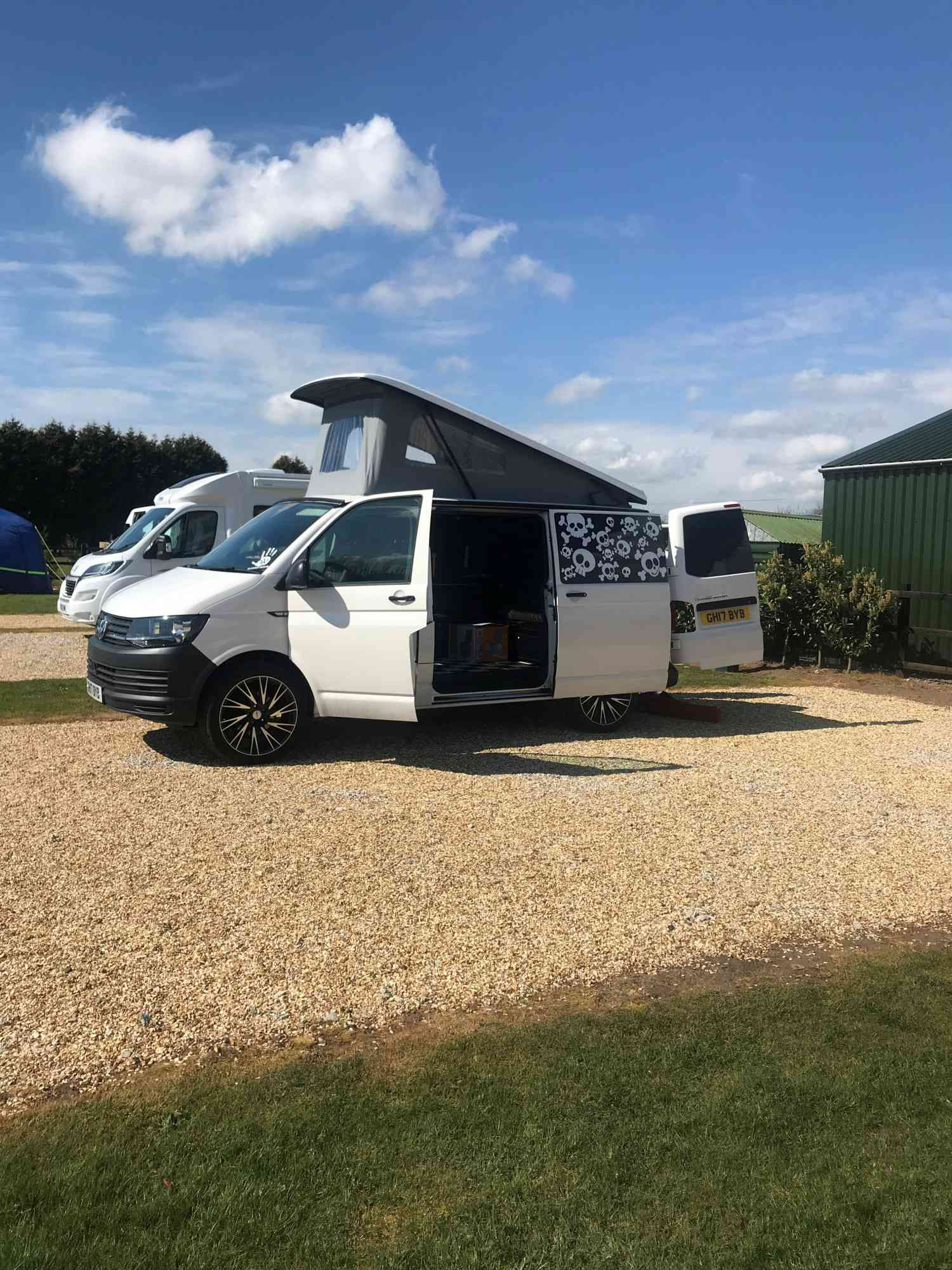 A VW T6 Campervan called Stubbs-the-V-Dub and for hire