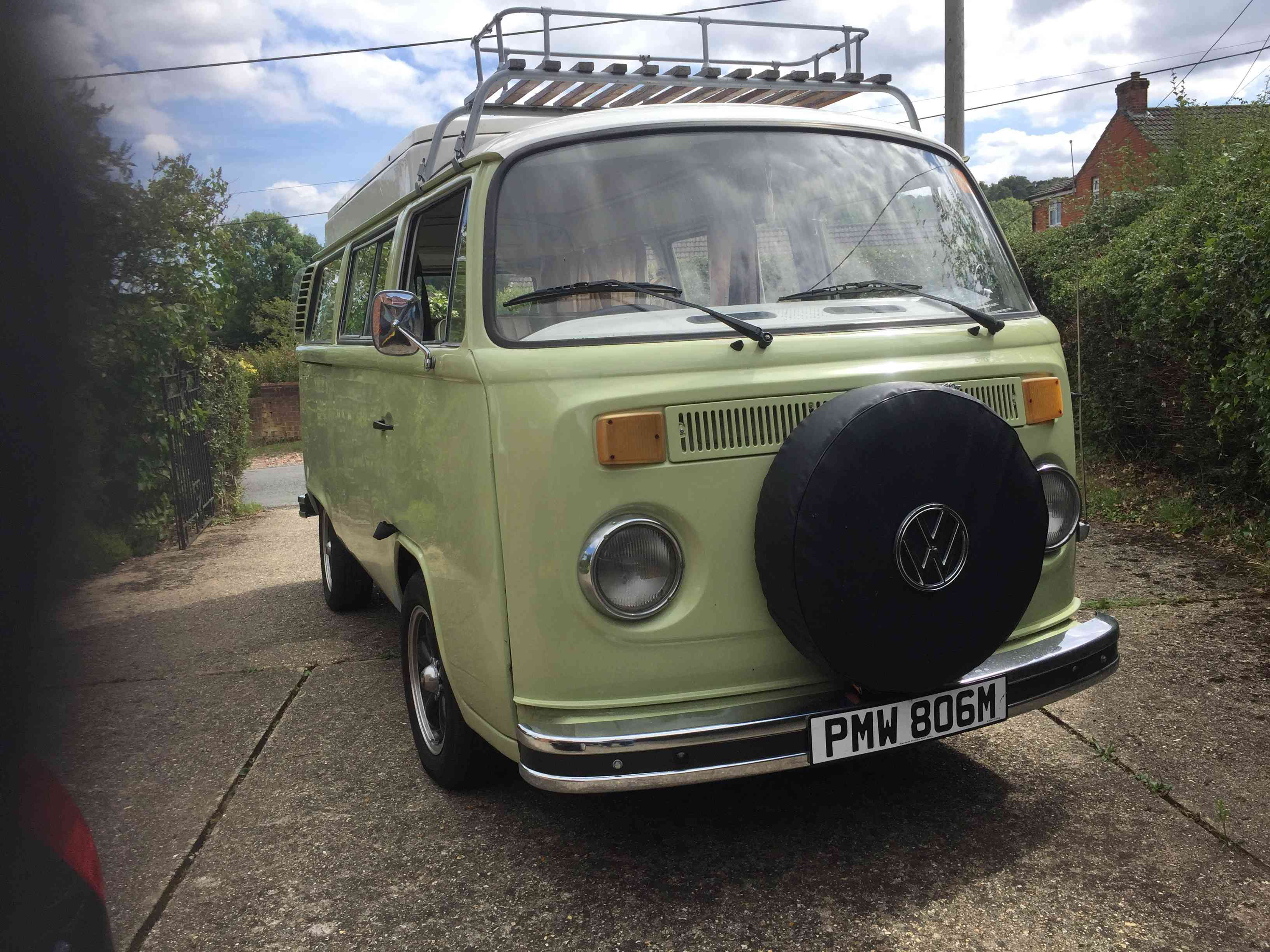 A VW T2 Classic Campervan called Olivia and Olivia for hire in westbury, Wiltshire