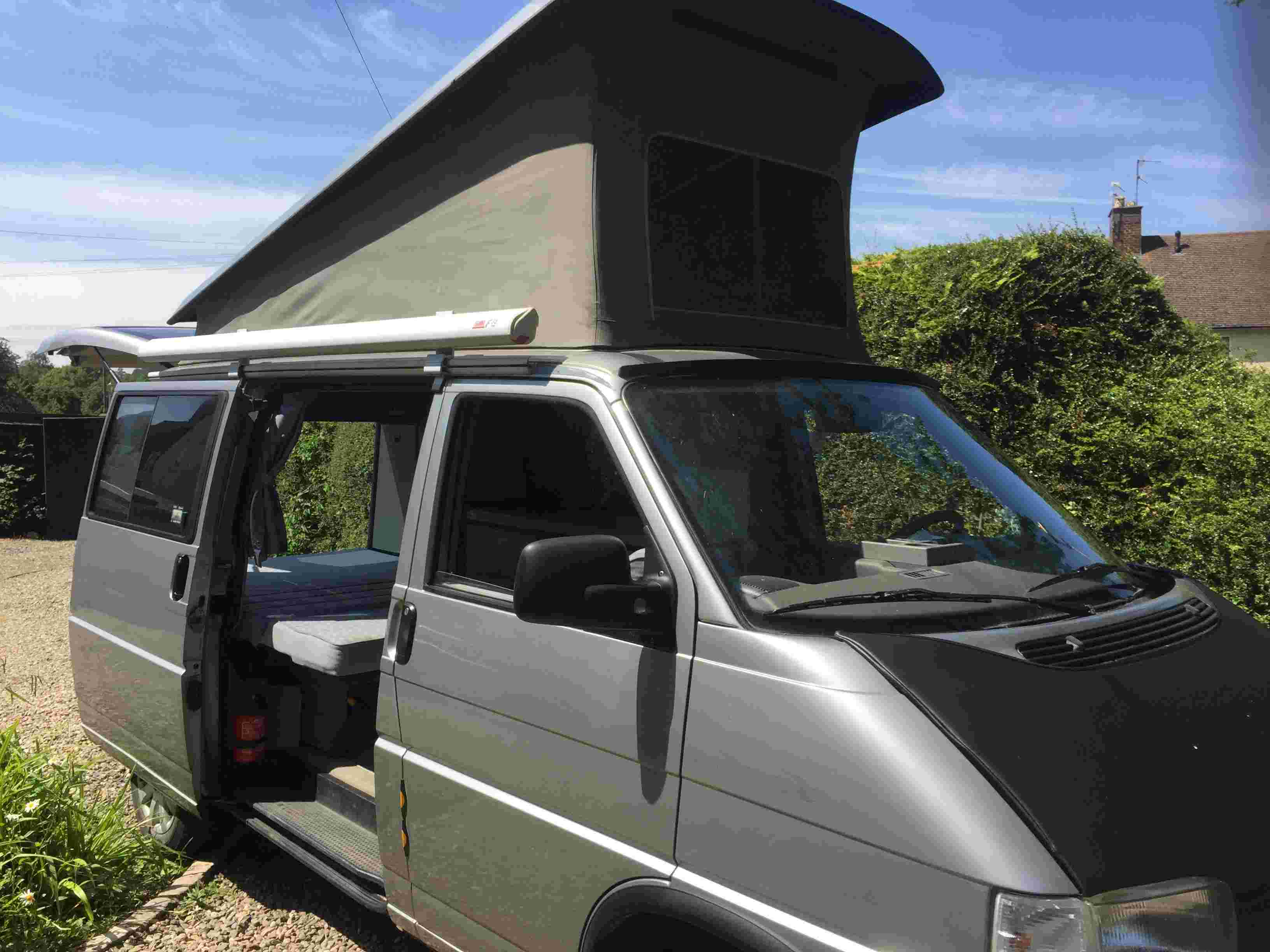 A VW T4 California Campervan called silver-surfer and A rare beast! Providing a home from home for hire in chipping campden , Gloucestershire
