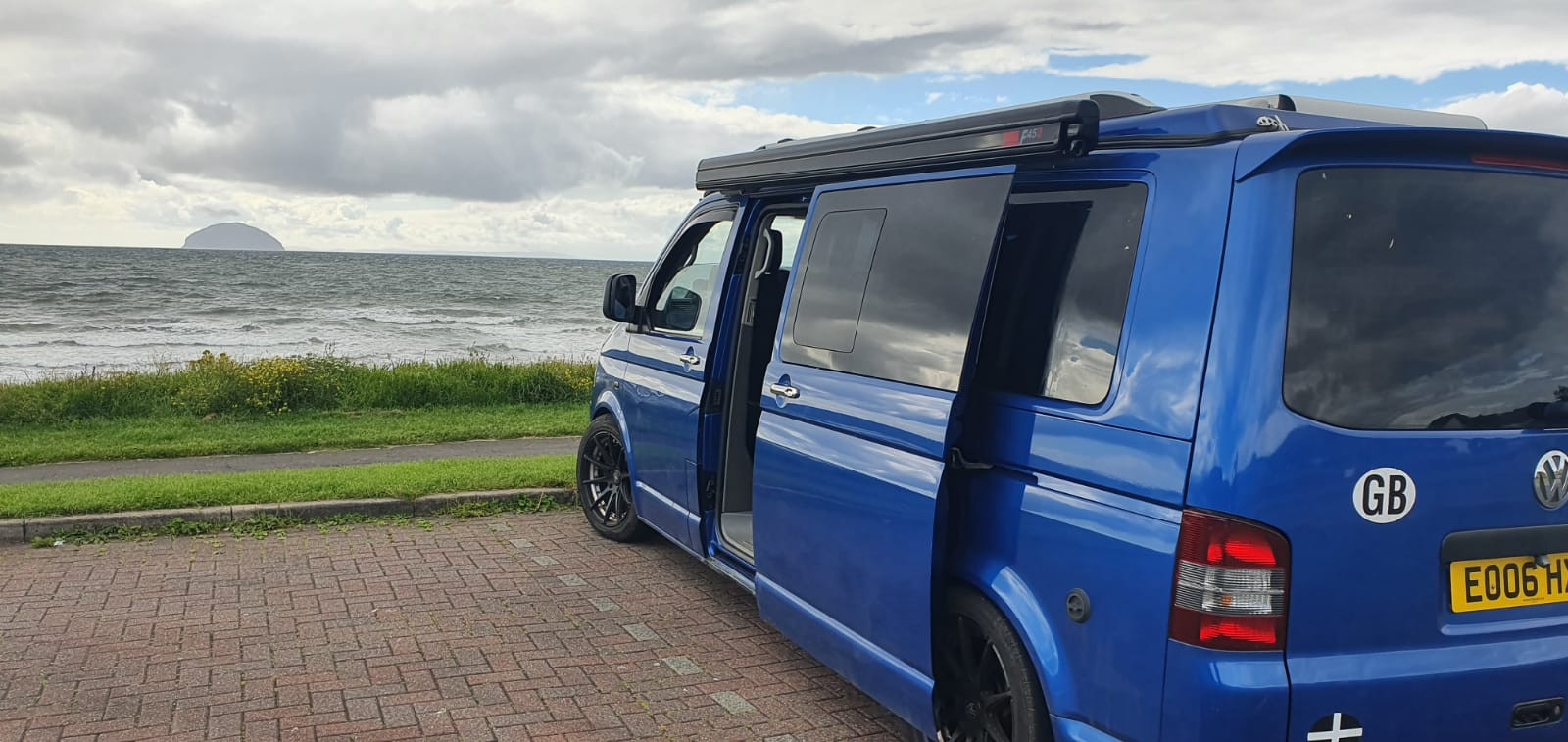 A VW T5 Campervan called Herve and for hire in gifford, East Lothian
