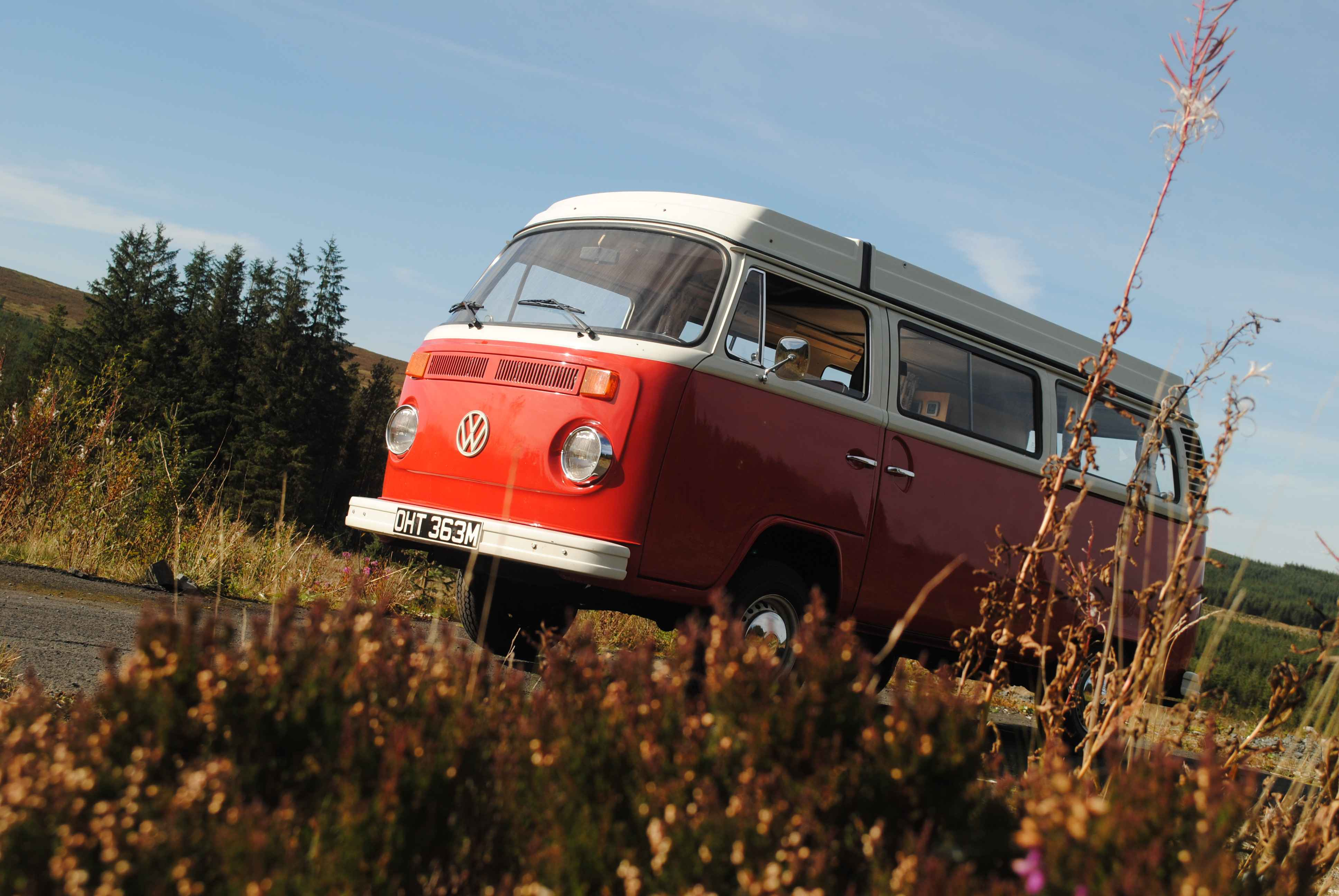 A VW T2 Classic Campervan called Ruby and for hire in Johnstone, Renfrewshire