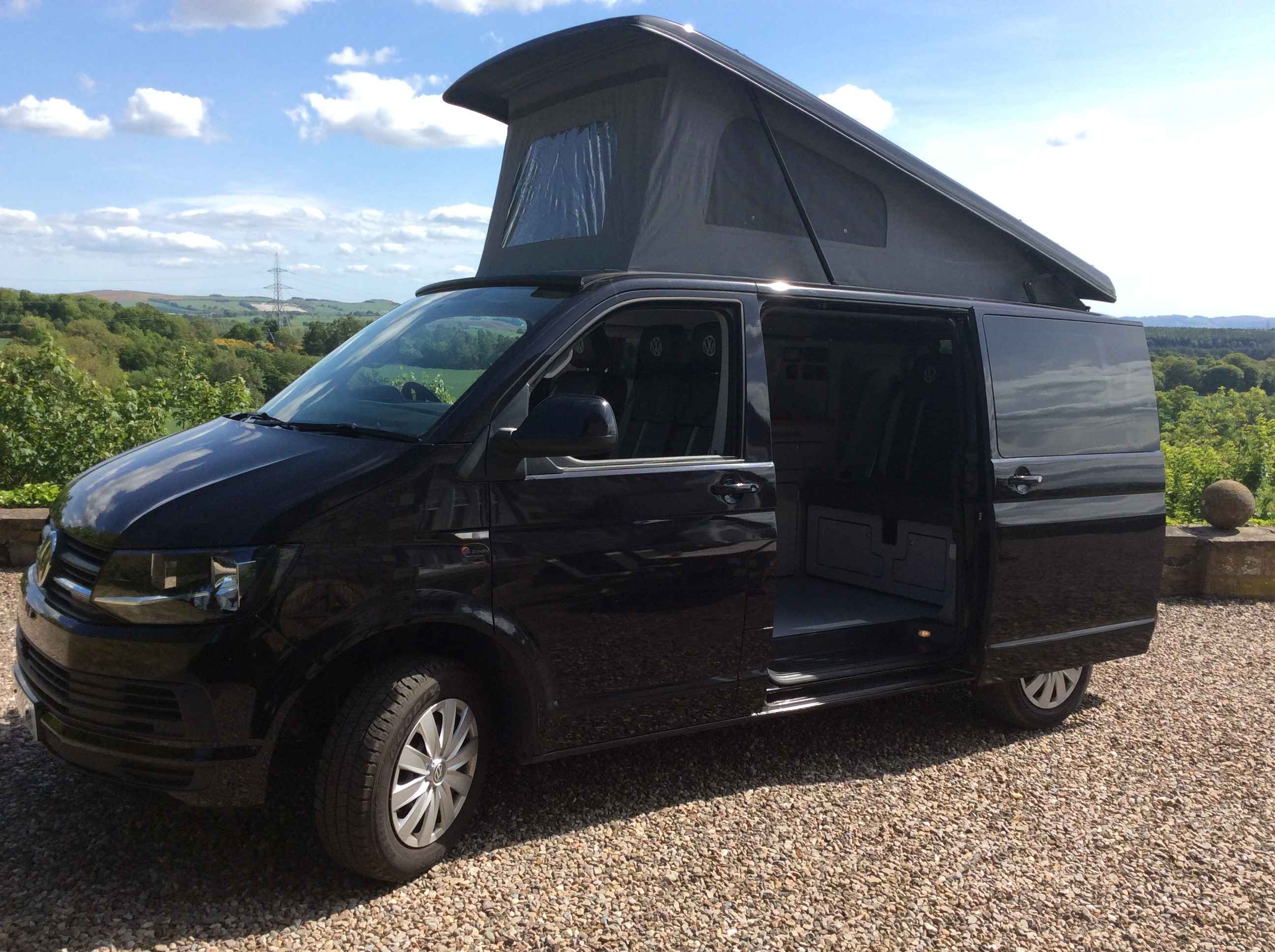 A VW T6 Campervan called Archie and Archie at his best for hire in perth, Perth and Kinross