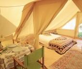 Inside the 'Dub Pod' Bell tent